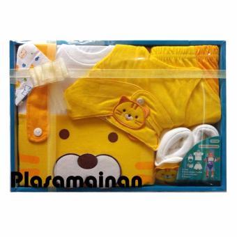 Kiddy Baby Gift Set Motif Cat 11154 Kuning - Set Pakaian Bayi