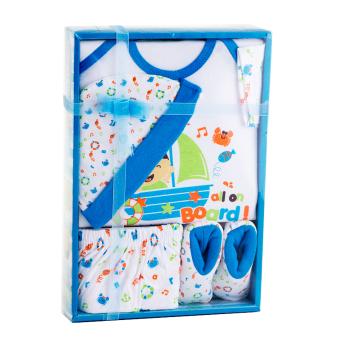 Kiddy Baby Gift Set Kapal Laut Biru 11162 - Perlengkapan Baju Bayi Satu Set