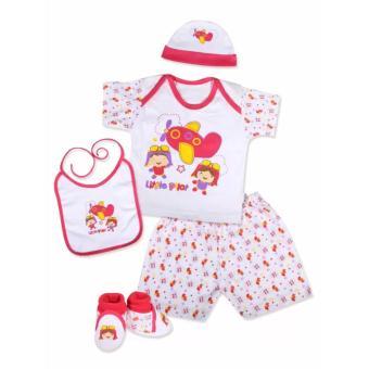 Kiddy Baby Gift Set Pilot Pink 11163 - Set Pakaian Bayi