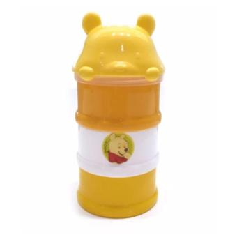 Kiddy Baby Milk Powder Container 3 Layer WTP Orange - Tempat Susu Formula