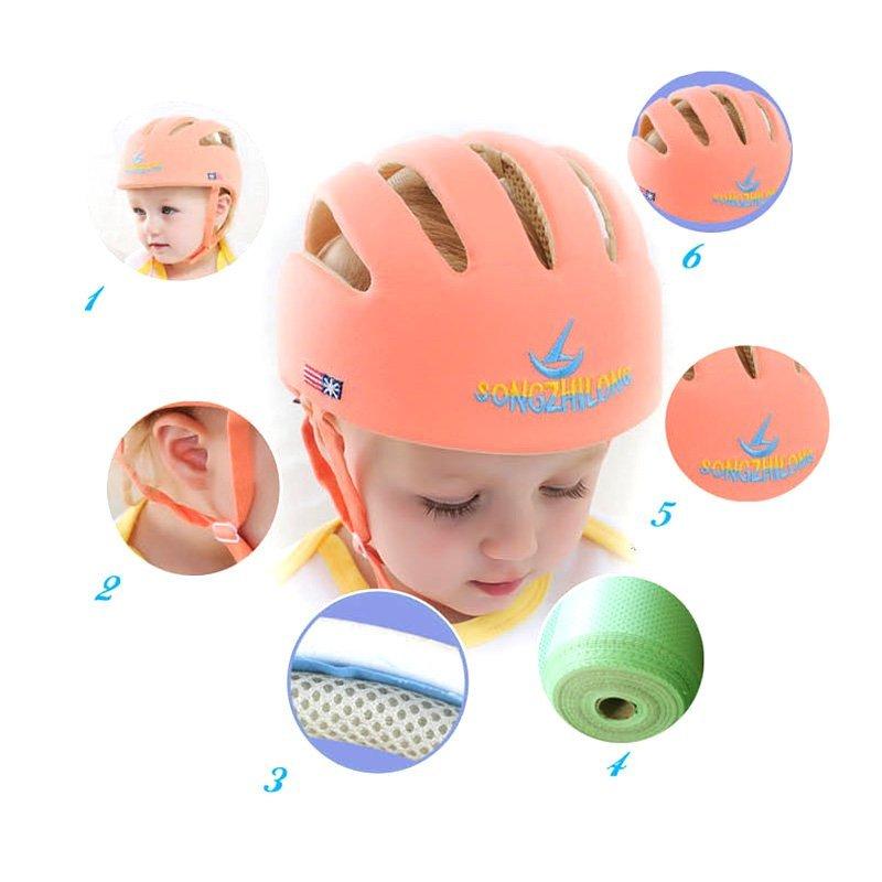 Jual Helm Pengaman Bayi Balita Anak Headguard Topi Cap ... - Adapula Yg Dpt. Source · Best Price Kids Safety Cap Lovely Anak-anak Keren Helmet Orange-Intl ...