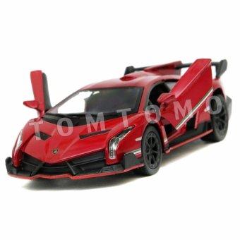 Lamborghini Veneno Red - Diecast Miniatur Mobil Mobilan Sport Mainan Anak Cowok Kinsmart