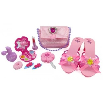 Little Princess Fashion Beauty Set For Girls With Pink Merawat Dompet Sepatu & Amp; Aksesoris-Intl