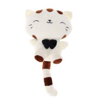 Lucu Anak-anak Bantal Boneka Mainan Lucu Nasib Kucing (Putih 30 Cm)-