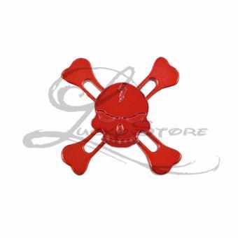 Lucky Fidget Hand Spinner SKULL Tengkorak Hand Toys Focus Games / Mainan Spinner Tangan Penghilang Kebiasan