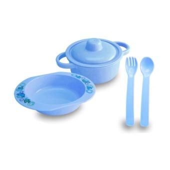 Lusty Bunny Tempat makan Bayi Plate Set 5in1 Peralatan makan Bayi