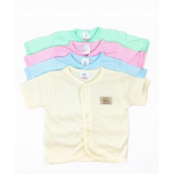 Luvita Baju Bayi Lengan Pendek Polos ( M-L ) - 4 Pcs