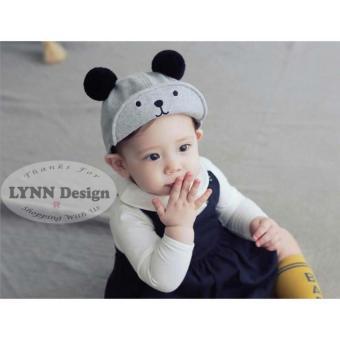 Lynn Design - Topi Kupluk Pom Pom Beruang Bayi Balita Anak 593490b8dc
