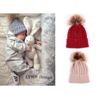 ... Lynn Design Topi pom pom rajut Bayi & Anak korean 0 18 bulan
