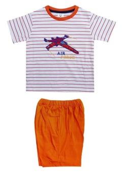 MacBear Baju Setelan Anak Air Force Set Orange Size 3