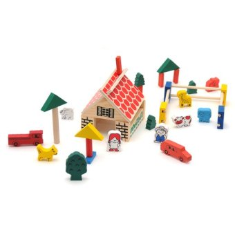 Mainan Eduka Village Building Block