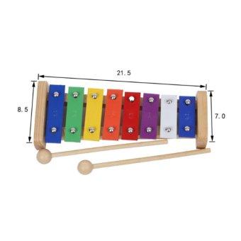 Mainan Edukasi Anak Xylophone Kulintang 8 Oktaf Bahan Kayu - Multicolor .