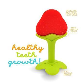Mainan Gigitan Bayi Reliable Silicone Teether Strawberry