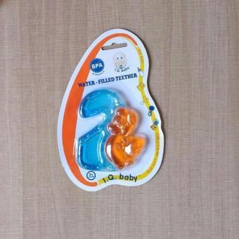 Mainan Gigitan Bayi Water Filled Teether Iq Baby 2 Warna Number Two Orange - 151