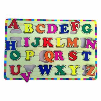Mainan Kayu Puzzle Abjad Huruf Besar - Kayu Seru