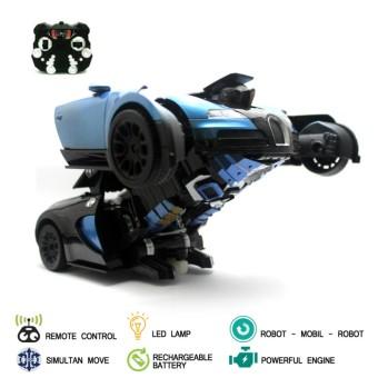 Mainan Mobil Remote Control RC Transformer Autobot Veyron