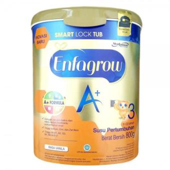 MeadJohnson Enfagrow A+ Tahap 3 Vanila with Smart Lock Tub - 800gr NEW