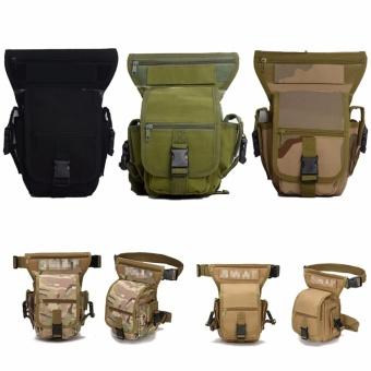 Men DROP Leg Bag Taktis Militer Paha Panel Kegunaan Ikat Pinggang Tas Kantong Hijau Tentara-