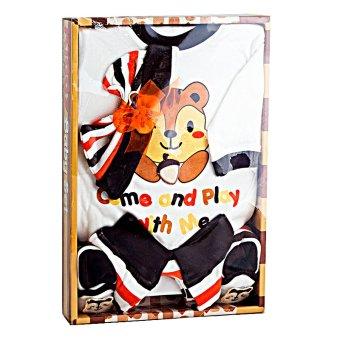 MOMO Kiddy Baby Gift Set Tupai Coklat 11166 - Satu Set Baju Perlengkapan Bayi