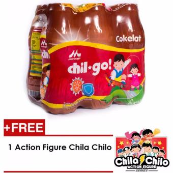 Morinaga Chil Go Cokelat 140ml - 6 Pcs (FREE 1 Action Figure Chila Chilo)