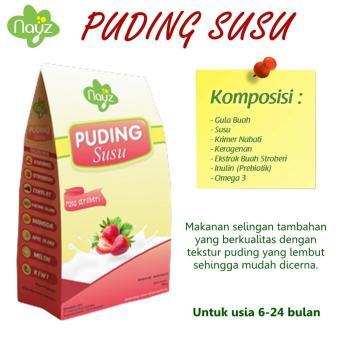Nayz Puding Susu (Puding Bayi / Anak) Rasa Strawberry / Nayz Food