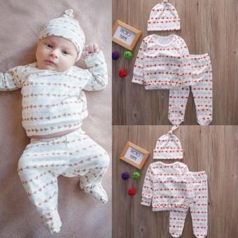 Bayi Laki-laki Yang Baru Lahir Perempuan Katun T-Kemeja + Panti Selang + 03294a1acd
