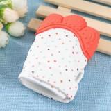Newborn Baby Silicone Teether Gigi Lem Sarung Tangan Windproof Chewable Alat-Internasional - 4