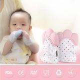 Newborn Baby Silicone Teether Gigi Lem Sarung Tangan Windproof Chewable Alat-Internasional - 3