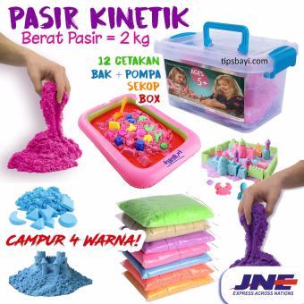 PAKET LENGKAP JUMBO 2 KG PASIR KINETIK / Kinetic Play Sand Mainan Edukasi