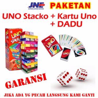 Paket Uno Stacko + Kartu Uno + Dadu Bergaransi
