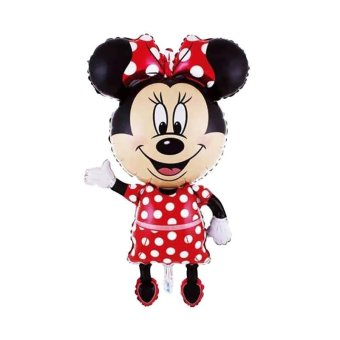 Party Popper Minnie Mouse Jumbo Balon - Red Black [110 Cm]