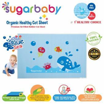Perlak Karet Organic Bayi Sugar Baby Blue Sea - Alas Mandi Ompol Bayi