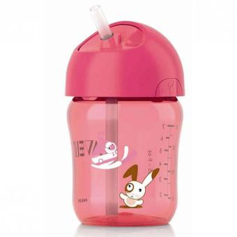 Philips Avent Straw Cup Pink 260ml (12M+)