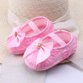 Discount Popila Sepatu Bayi Impor Anti Slip Satin Pita beli sekarang Hanya Rp42 975