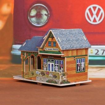 Robotime Teknologi Villa 3D Tiga Dimensi Model Lodge