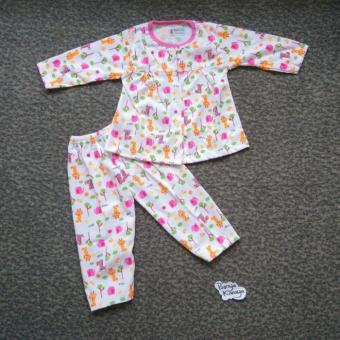 Setelan Baju Bayi Perempuan Piyama Baju Tidur Motif Animal Syifa