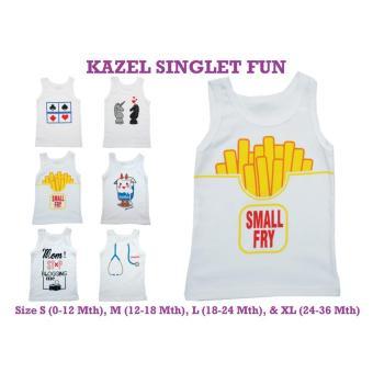 Singlet Kazel Fun Edition 1 Kotak Isi 6 Pcs Singlet