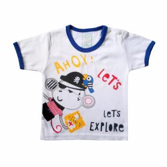 Hot Deals Skabe Baby Putih Tangan Pendek Stelan Kaos 2328 - Biru terbaik murah - Hanya