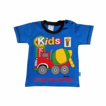 Discount SKABe Baby W/Tua Tangan Pendek Stelan Kaos 2376 - Biru beli sekarang -