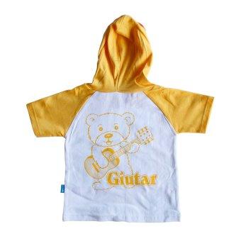 Skabe Baju Anak Bayi W/Tua Tangan Pendek Kimono Topi Stelan Kaos 1683 - Kuning
