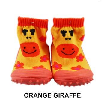 Skidder Sepatu Bayi - Sepatu Anak Motif Orange Giraffe Uk.21
