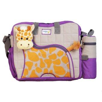 Snobby Tas Bayi Besar Saku Aplikasi Boneka + TBSD Giraffe Series TPT 1577 Ungu - Tas