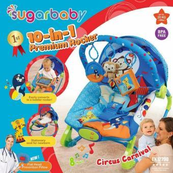 Sugar Baby 10 in 1 CIRCUS CARNIVAL Premium Rocker Bouncer - Ayunan Bayi - kursi goyang