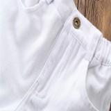 ... Musim Panas Modis Anak Pakaian Bayi Gadis Pakaian Lemon Cetak Atasan + Putih Celana Pendek 2