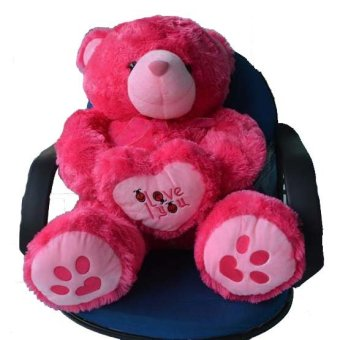Harga Syuka Kids Boneka Teddy Bear I Love You Besar Jumbo 80 cm (SNI) -Pink