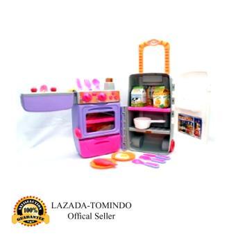 Tomindo Toys Kitchen Set Fashion Trolley / Mainan Anak Masak Masakan / mainan dapur 9911