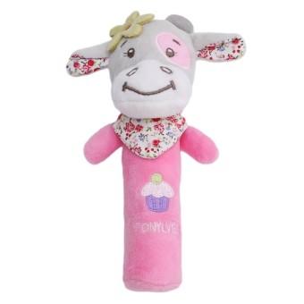 Tony Lee Baby Squeaker Mainan Stick - Cow