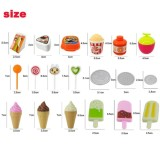Toys Simulation Mini Candy Ice Cream Trolley Shop Pretend Play - 5
