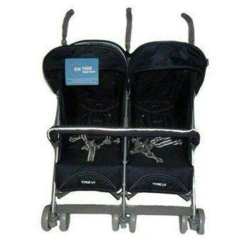 harga Trevi Stroller Baby Elle Twin S-2500 Stroller Kembar - Hitam Lazada.co.id