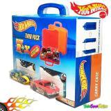 TSH Hot Wheels Twin Pack Carry Case 2 box Cars 3 pcs Mobil Hotwheels - 2 ...